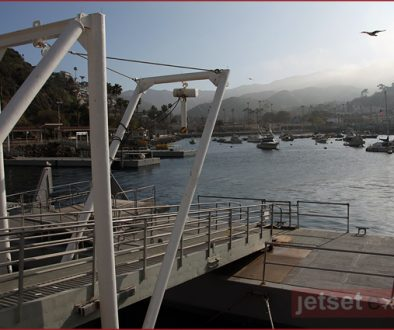 View of Catalina from the green pier