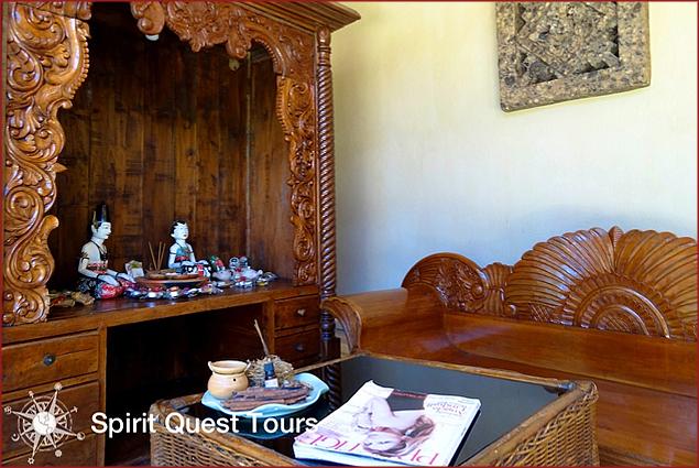The lobby of the Sunari spa