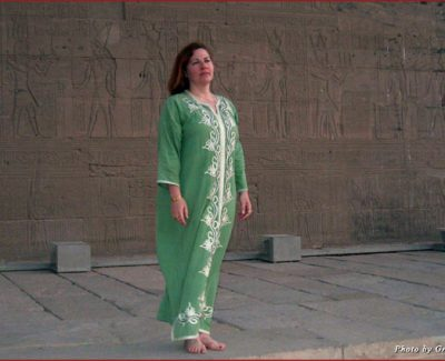 Halle at the temple of Isis, from her last trip to Egypt