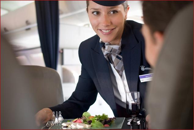 Food service aboard OpenSkies