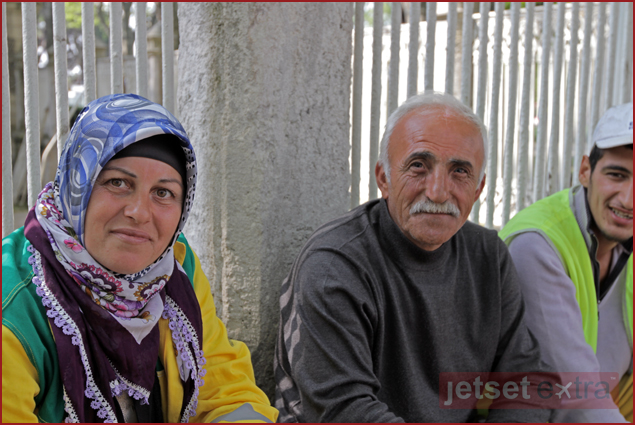 A local family I had tea with in Istanbul