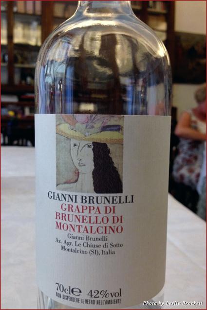 Gianni Brunelli Grappa - Good with gnocchi