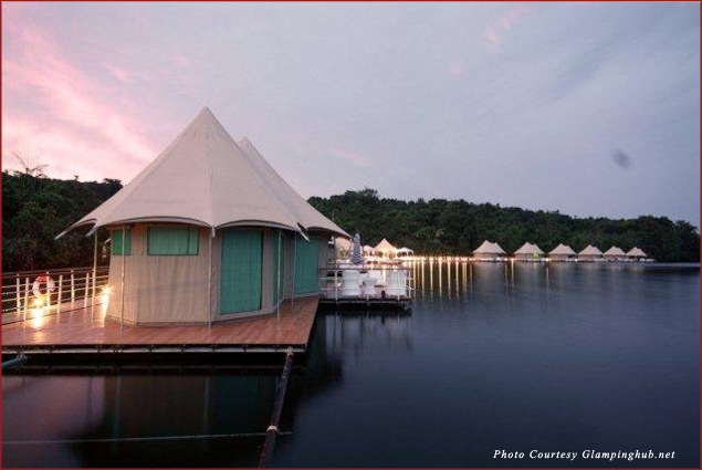 Glamorous camping, or glamping, at Four Rivers Floating Lodge in Cambodia