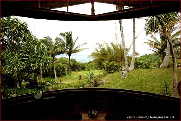 Lush vegetation at the Opua House in Maui