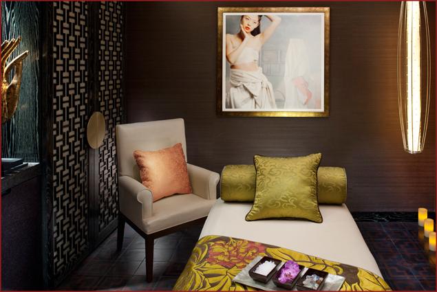 The spa at the Mandarin Oriental