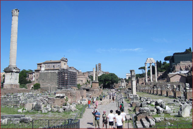 Walk through history at the Roman Forum – Metro stop: Colosseo (Line B)