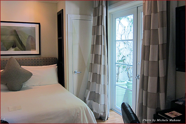 Guest room at the Angler's Hotel / The bed brought new meaning to the word comfy