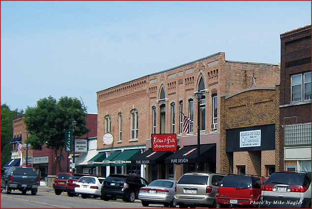 Main Street in Waupaca, Wisconsin
