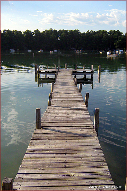 The rickety pier at Kusel Lake is perfect for sunning