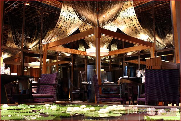 The Sra Bua by Kiin Kiin restaurant in Siam Kempinski