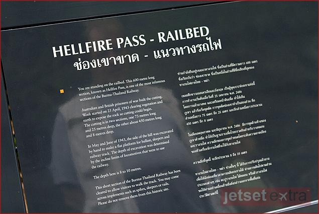 Plaque explaining Hellfire Pass
