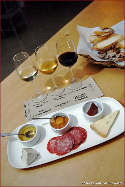 Tasting plate at Salt Tasting Room in Vancouver's Gastown neighborhood
