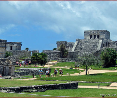 The Mayan ruins at Tulum in the Yucatan Peninsula