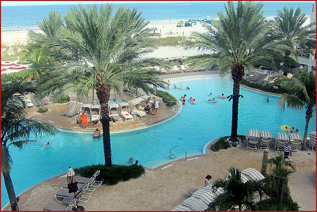 The pool at the Sandpearl Resort in Clearwater, FL is quite remarkable