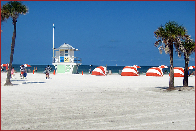 White sandy beaches and the warm waters of the Gulf of Mexico