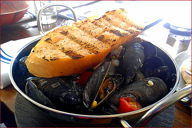 Mussels at Bait and Hook in NYC's East Village