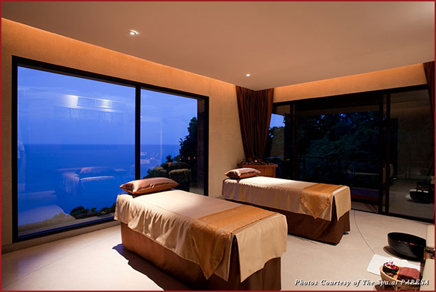 Couples treatment room at the Spa at Paresa in Phuket, Thailand
