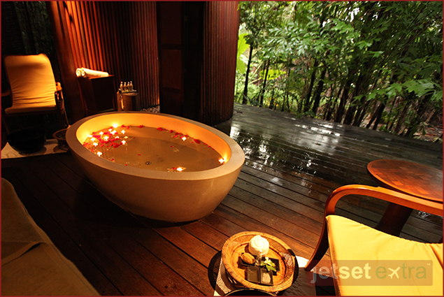 Private spa room for two at The Sarojin Resort in Khao Lak, Thailand