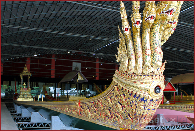 One of the royal barges at the Royal Barge National Museum in Bangkok, Thailand