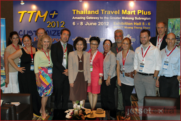 Maxine and Mary Anne with the deputy director of tourism of Thailand at TTM 2012