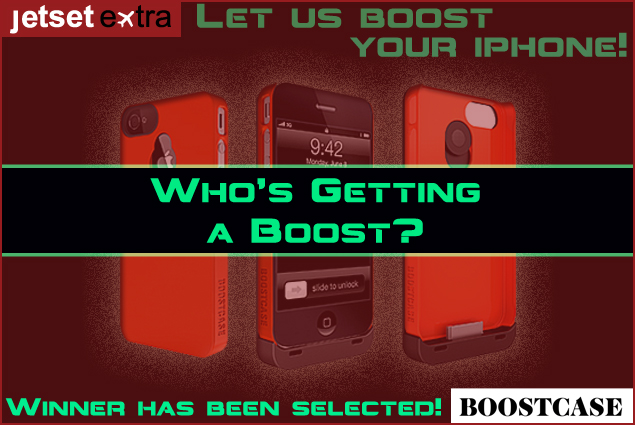 Jetset Extra has a lucky winner in our Boostcase Hybrid giveaway...and the winner is...