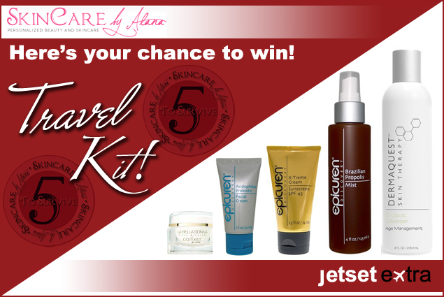 Enter to Win a Skincare by Alana 'Five to Survive' travel kit!