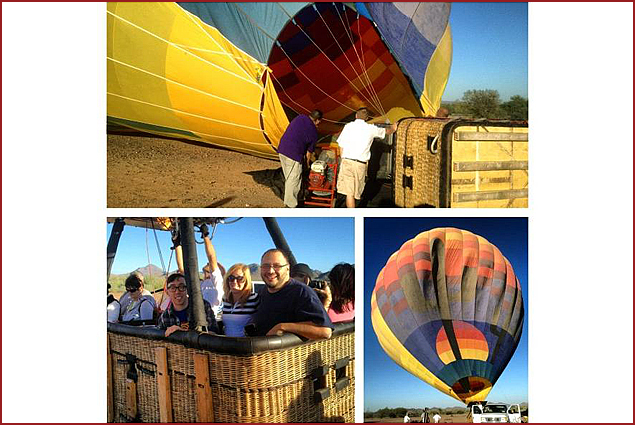 Ready for our hot air balloon ride