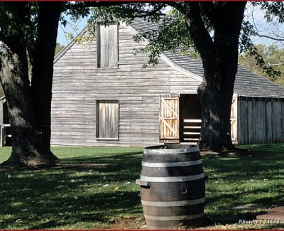 Appomattox Court House barn in the National Historic Park