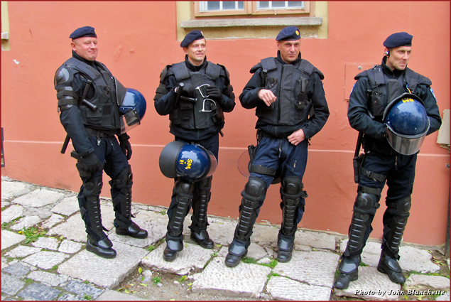 Many of the police formed the Croatian army that defeated the Serb invasion in 1995