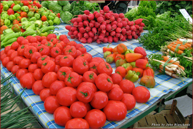 Wonderful fresh produce can be found in the local farmer's markets