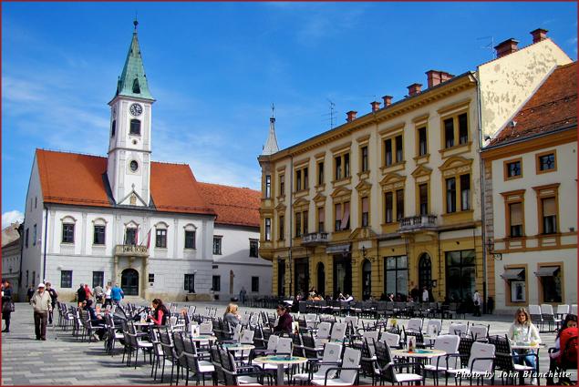 The Baroque square in Varazdin