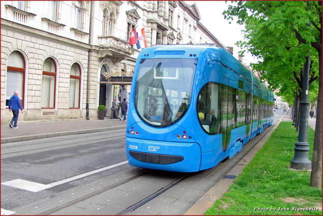 Walking and public trams are the best way to navigate Zagreb