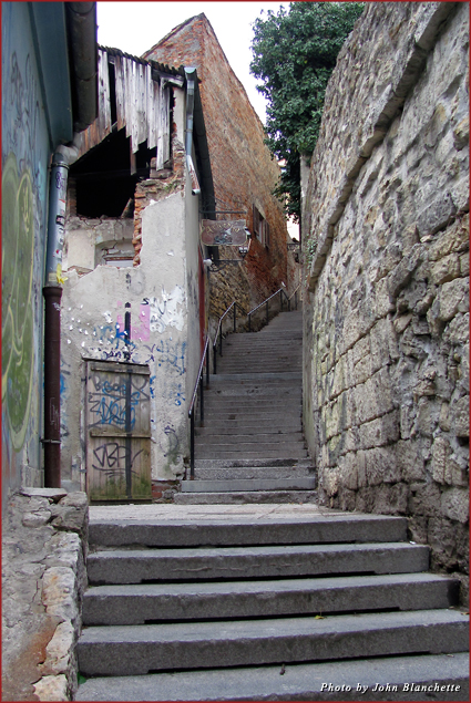Medieval pathways lead to the different levels of Zagreb
