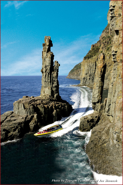Bruny Island Cruises visits Cape Connella in southeast Tasmania