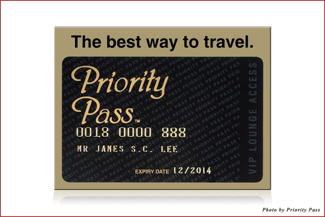 A Priority Pass Prestige Membership card