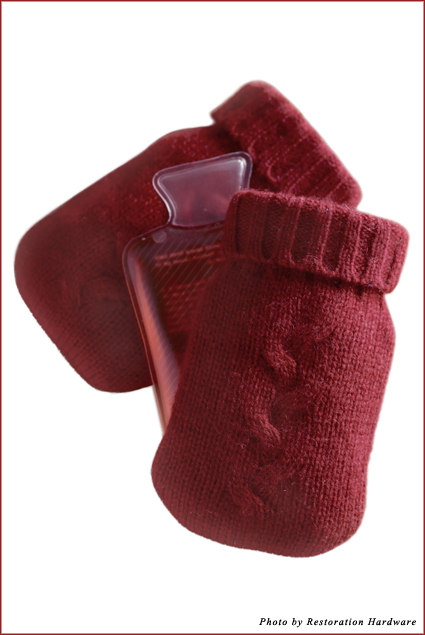 Mini Cashmere Hand Warmers from Restoration Hardware