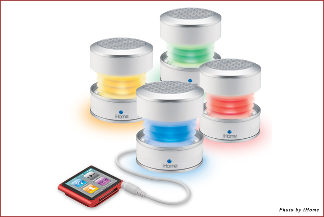 The iHome GlowTunes Mini Speakers
