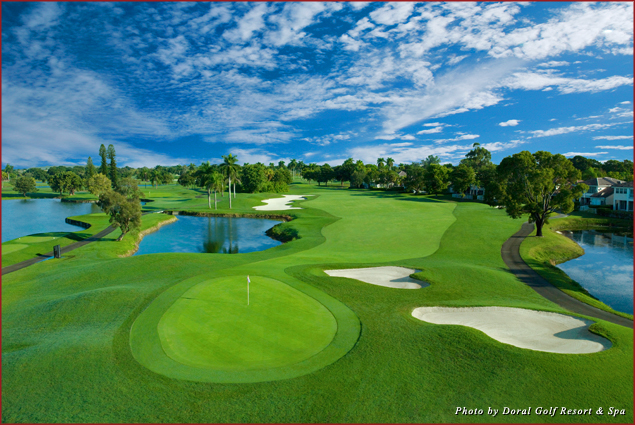The golf course at Doral Golf Resort & Spa Miami