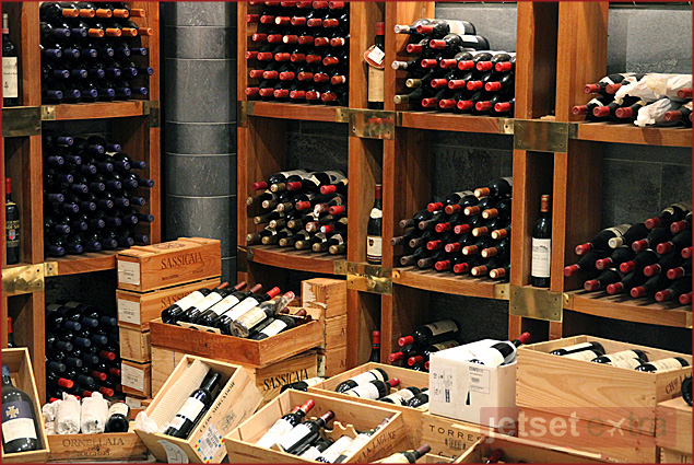 A few of the 16,000 bottles of wine at Lord Nelson restaurant in Chiavari