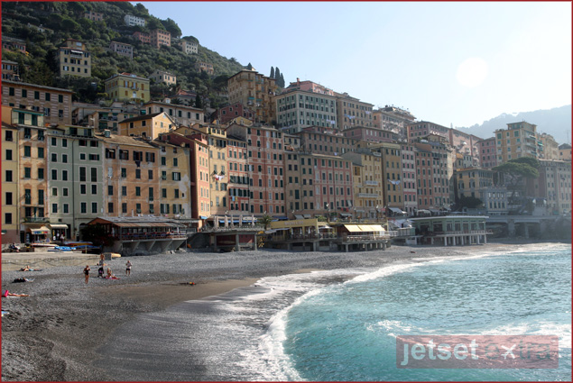 The beach in Camogli, Italy