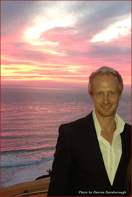 Enjoying the sunset at TACA