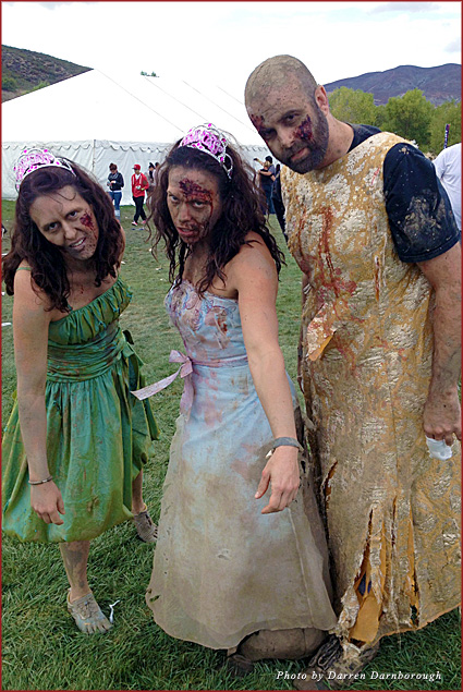 A few zombies from the Run For Your Lives run