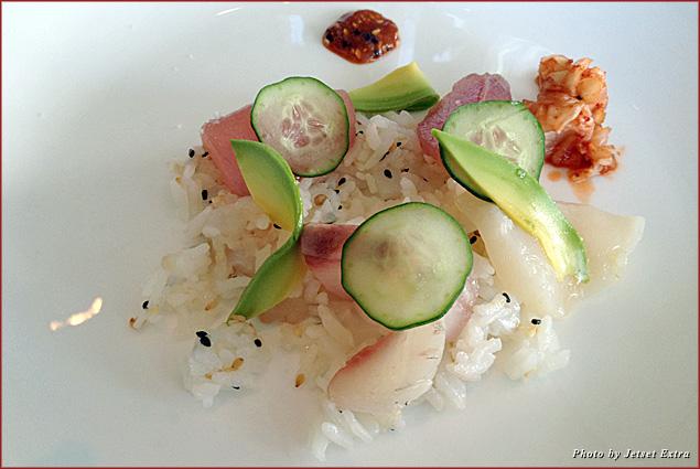 Chef Perry's chirashi zushi of tuna