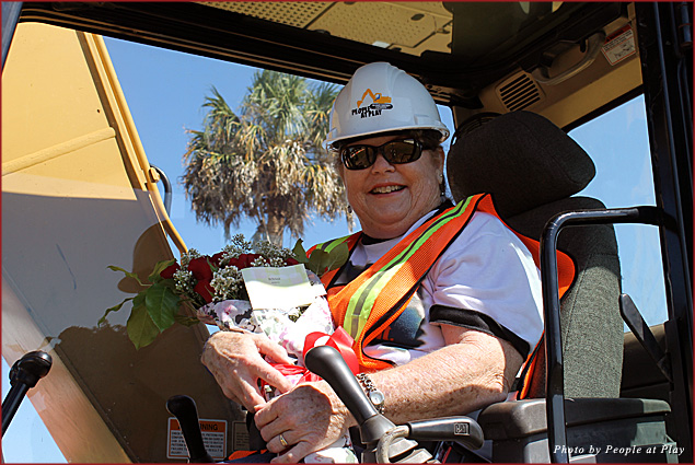 """Couples can """"get dirty"""" running construction equipment at People at Play on Florida's Gulf Coast"""