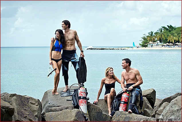 Couples have access to motorized and non-motorized water sports with the Windjammer Landing adventure package