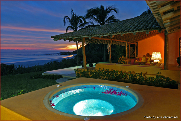 Guests can enjoy an oceanfront suite at Las Alamandas in Costalegre, Mexico
