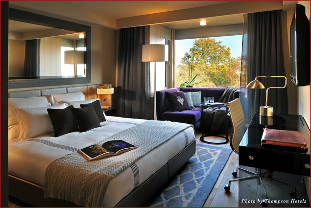 A guestroom at Belgraves, A Thompson Hotel