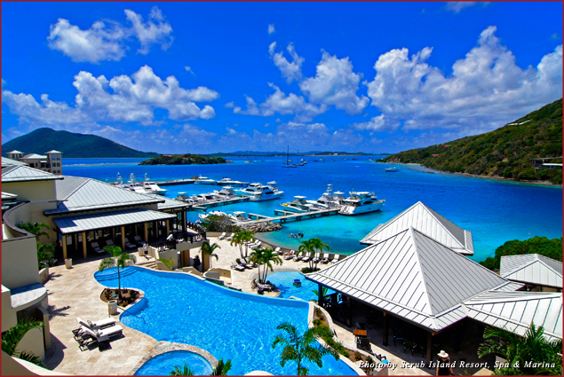Scrub Island Resort features a luxury spa, suites and hillside villas, private beaches, hiking trails, and a marina