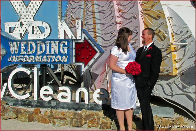 Couples can get married amid more than 150 neon signs in Las Vegas