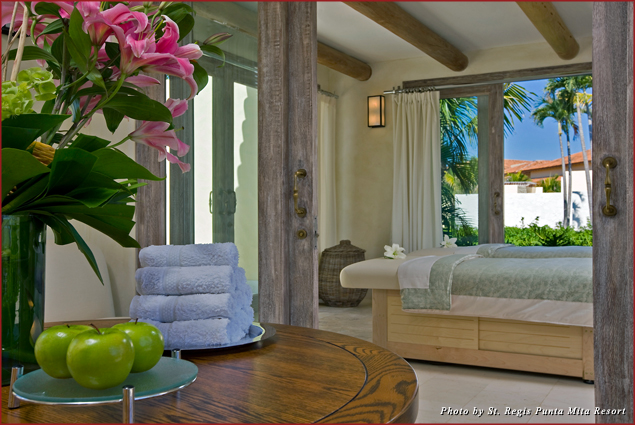 A couples spa suite awaits at the Remède Spa at the St. Regis Punta Mita Resort